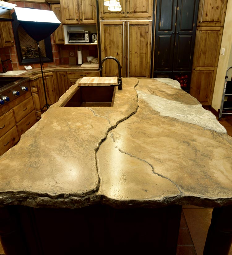 Concrete Countertop Kitchen 1