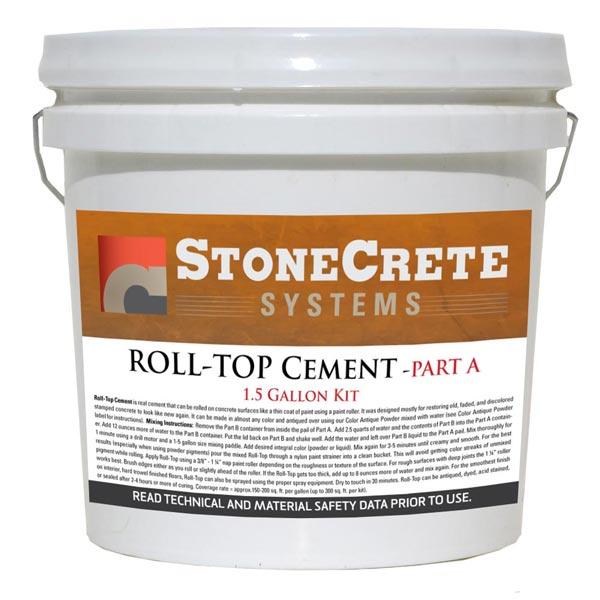 Rolls In Cement : Roll top cement gallon kit stonecrete systems